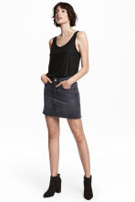 Denim skirt - Black denim - Ladies | H&M 1