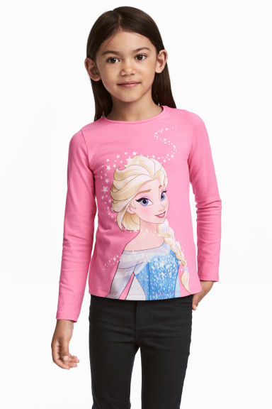 Lot de 2 tops - Rose/La Reine des neiges - ENFANT | H&M FR 1