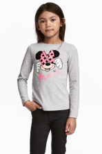 2-pack long-sleeved tops - Grey/Minnie Mouse -  | H&M CN 1