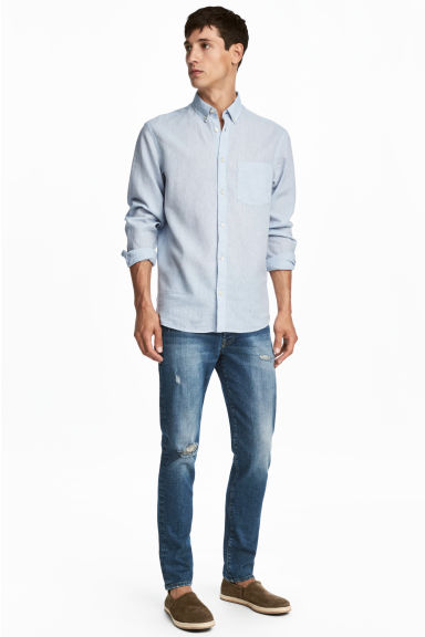 Slim Low Jeans - Dark blue washed out - Men | H&M CA 1