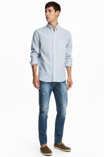 Slim Low Jeans - Dark blue washed out - Men | H&M CN 1