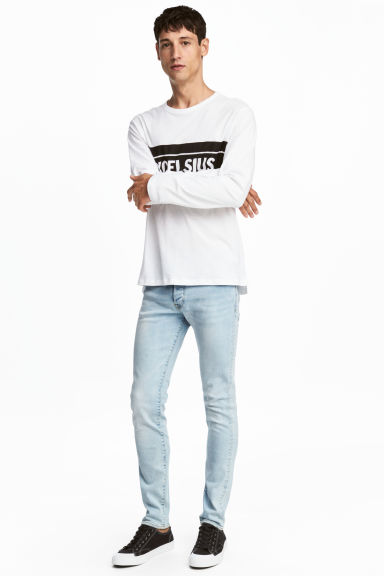 Skinny Low Jeans - Light denim blue - Men | H&M 1