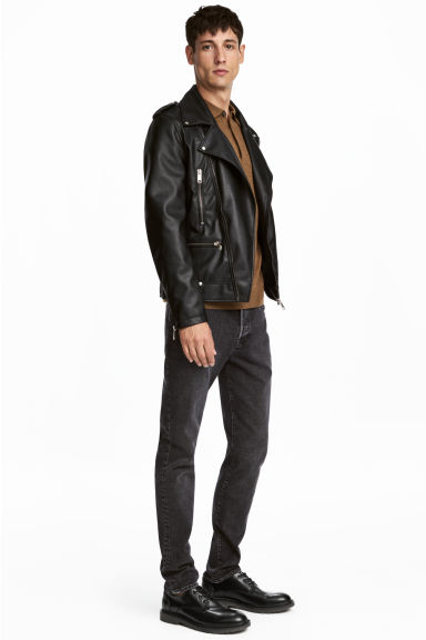 Relaxed Skinny Jeans - Mörkgrå washed out - HERR | H&M FI 1