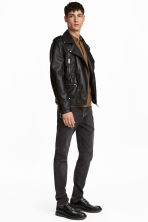 Relaxed Skinny Jeans - Dark grey washed out - Men | H&M 1