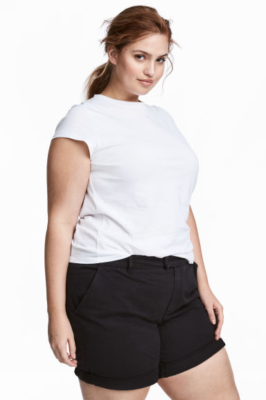H&M+ Chino shorts - Black - Ladies | H&M CN