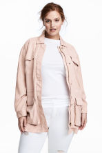 H&M+ Lyocell utility jacket - Powder pink - Ladies | H&M 1