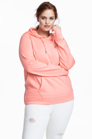 H&M+ Hooded top - Neon pink - Ladies | H&M 1