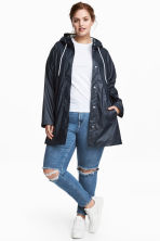 H&M+ Raincoat - Dark blue - Ladies | H&M 1