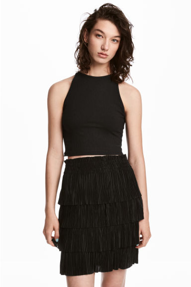 Short vest top - Black -  | H&M CA 1
