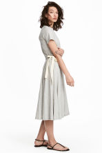 Jersey dress with ties - Grey marl - Ladies | H&M 1