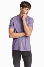 2-pack T-shirts Slim fit - Purple/Mole - Men | H&M 1