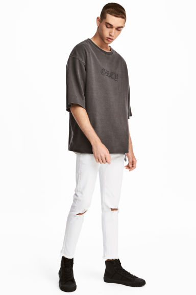 Super Skinny Ankle Jeans - White - Men | H&M 1