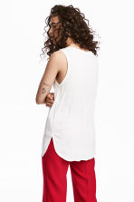 V-neck jersey top - White - Ladies | H&M CN 1