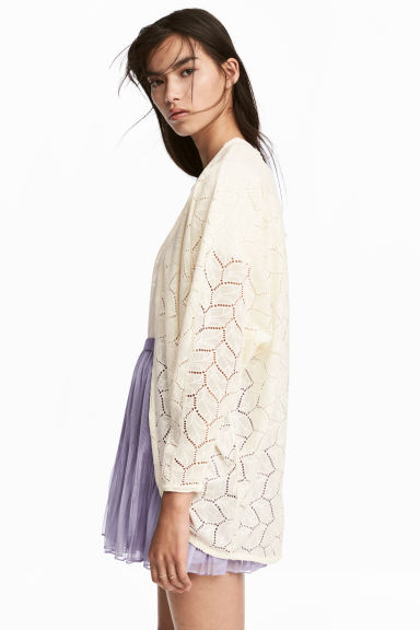 Lace cardigan - Natural white - Ladies | H&M 1