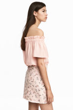 Denim skirt - Powder pink/Floral - Ladies | H&M CN 1