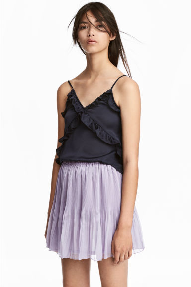 Pleated skirt - Light purple - Ladies | H&M CN 1