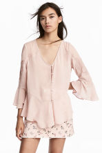 Wide chiffon blouse - Light old rose - Ladies | H&M 1