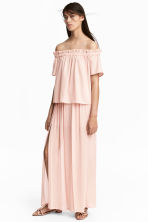 Wide trousers with slits - Powder pink - Ladies | H&M CN 1
