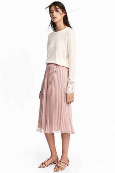 Pleated skirt - Old rose - Ladies | H&M 1