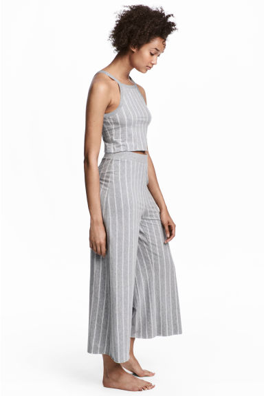 Pyjamas with cami top - Grey/Striped - Ladies | H&M