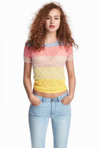 Pointelle top - Multicoloured - Ladies | H&M 1