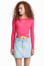 Cropped jumper - Cerise - Ladies | H&M 1