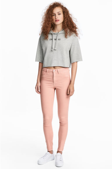 Super Skinny High Jeans - Powder pink - Ladies | H&M 1