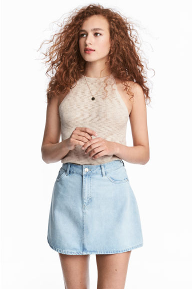 Fine-knit top - Light beige - Ladies | H&M