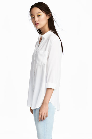 Viscose shirt - White - Ladies | H&M 1