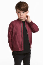 Bomber jacket - Burgundy - Kids | H&M CA 1