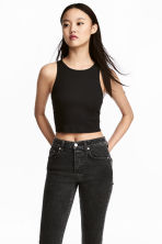 Short vest top - Black - Ladies | H&M 2
