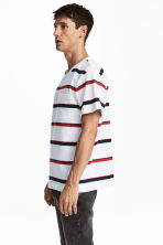 T-shirt - White/Striped - Men | H&M 1