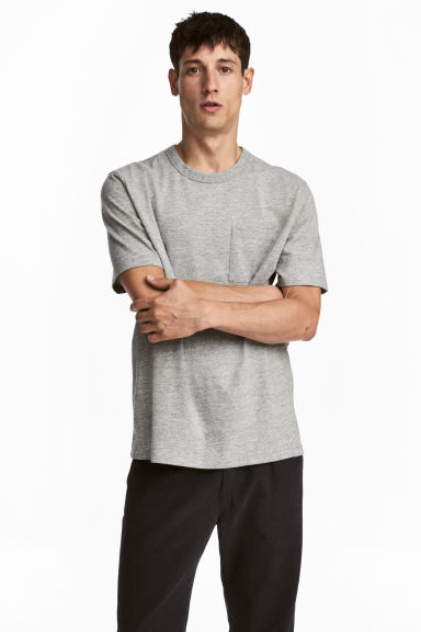 Melerad t-shirt - Grå - Men | H&M FI 1