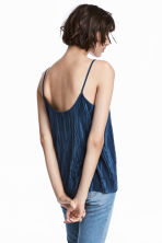 Pleated strappy top - Dark blue - Ladies | H&M 1
