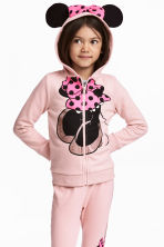 Hooded jacket with appliqués - Light pink/Minnie Mouse -  | H&M 1