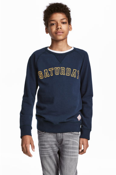 Cotton Piqué Shirt - Dark blue - Kids | H&M CA 1