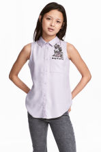 Sleeveless blouse - Light pink -  | H&M 1