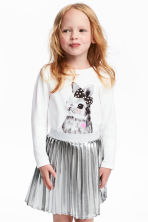 Jersey top with a print motif - White/Rabbit - Kids | H&M 1