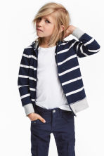 Hooded jacket - Dark blue/Striped -  | H&M 1
