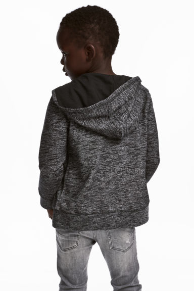 Hooded jacket - Black marl - Kids | H&M GB