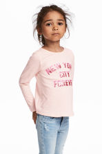 Long-sleeved top - Light pink/New York - Kids | H&M 1