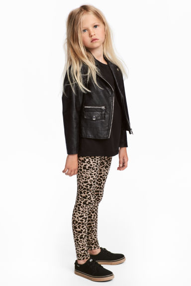 Trikåleggings - Leopardmönstrad - Kids | H&M FI 1