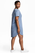 H&M+ V-neck Jersey Tunic - Pigeon blue - Ladies | H&M CA 1
