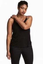 H&M+ Jersey strappy top - Black - Ladies | H&M 1