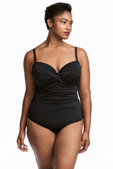 H&M+ Swimsuit - Black - Ladies | H&M GB 1