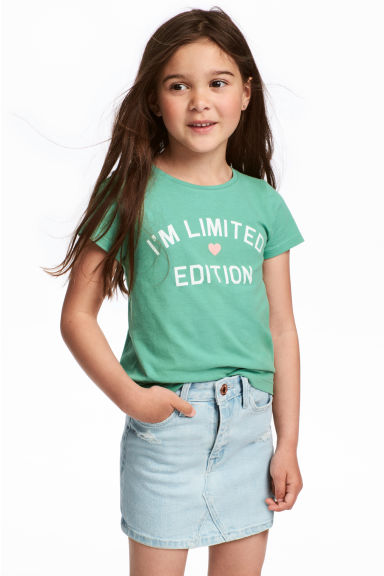 T-shirt in jersey con stampa - Verde - BAMBINO | H&M IT 1