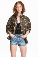 Utility jacket - Khaki green/Patterned - Ladies | H&M 1