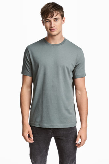 3-pack T-shirts Regular fit - Dark grey/Grey marl/Grey-Green - Men | H&M 1