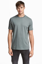 3-pack t-shirts Regular fit - Mörkgrå/Gråmelerad/Grågrön - Men | H&M FI 1