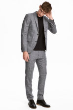Suit trousers Slim fit - Black marl - Men | H&M 1